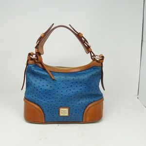 Dooney & Burke Blue Ostrich Purse Hand Bag